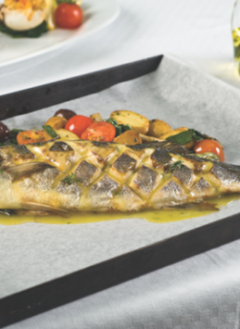Oven Roasted Sea Bass